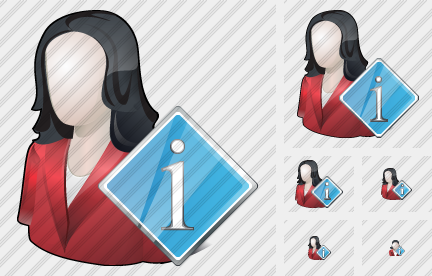 User Woman Info Icon