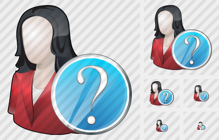 User Woman Question Icon
