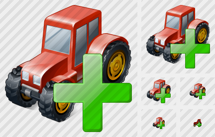 Wheeled Tractor Add Icon