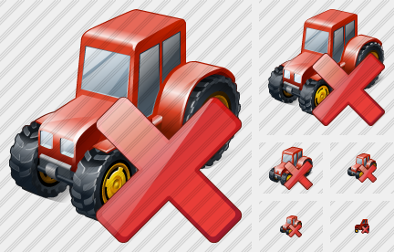 Wheeled Tractor Delete Icon