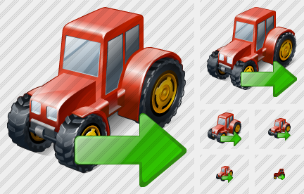 Wheeled Tractor Export Icon