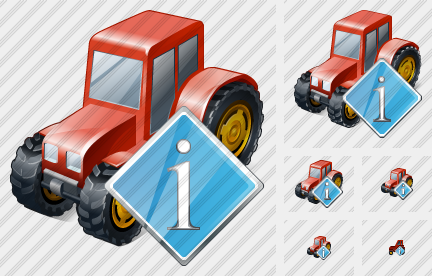 Wheeled Tractor Info Symbol
