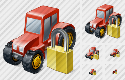 Wheeled Tractor Locked Icon