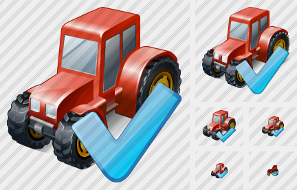 Wheeled Tractor Ok Icon