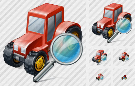 Wheeled Tractor Search Icon
