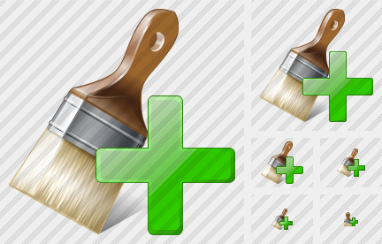 Wide Brush Add Icon