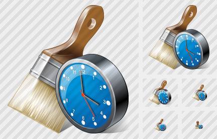 Wide Brush Clock Icon
