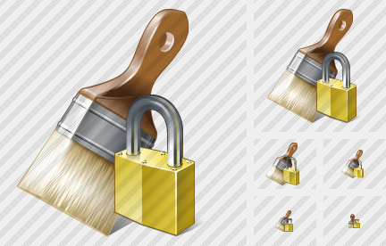 Wide Brush Locked Icon