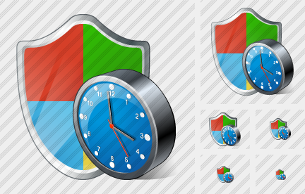 Windows Security Clock Symbol
