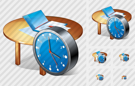 Work Table Clock Icon