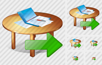 Work Table Export Icon