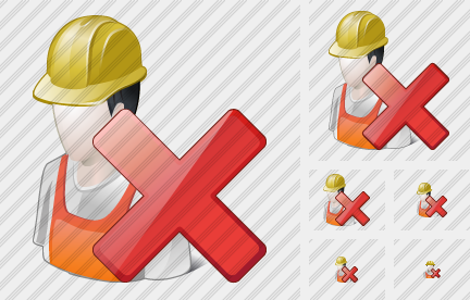 Worker Delete Icon