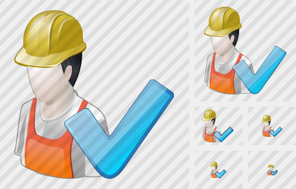 Worker Ok Icon