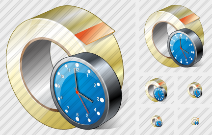 Adhesive Tape Clock Icon