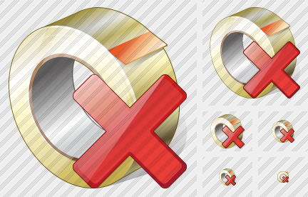 Adhesive Tape Delete Icon