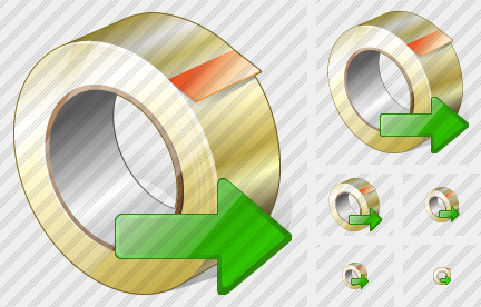 Adhesive Tape Export Icon
