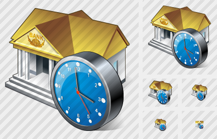 Bank Clock Icon