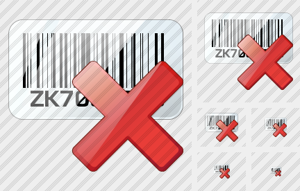 Bar Code Delete Icon