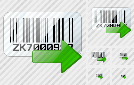 Bar Code Export Icon