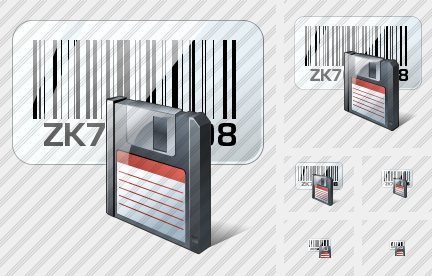 Bar Code Save Icon