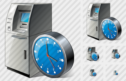 Cash Dispense Clock Symbol