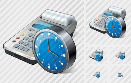Cash Register Clock Icon