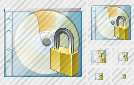 CD Box Locked Icon