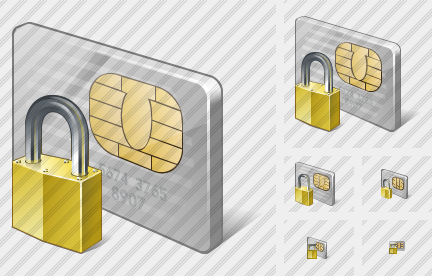 Chip Card Locked Icon