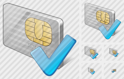Chip Card Ok Icon