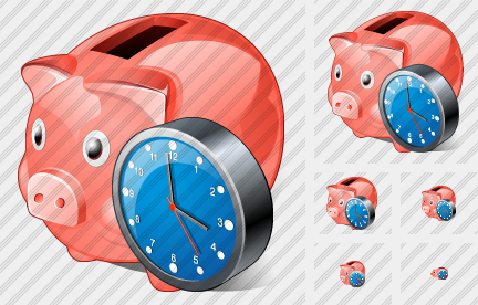 Coin Box Clock Icon