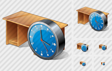 Computer Desktop Clock Icon