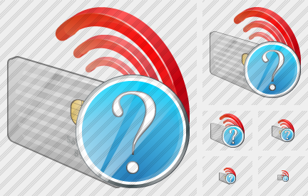 Contactless Chip Card Question Icon