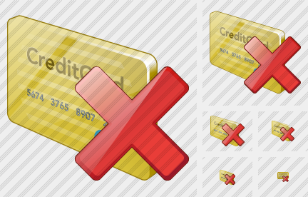Credit Card Delete Symbol