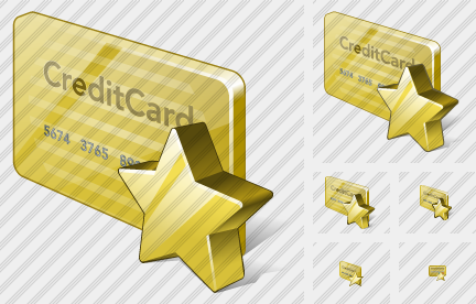 Credit Card Favorite Icon