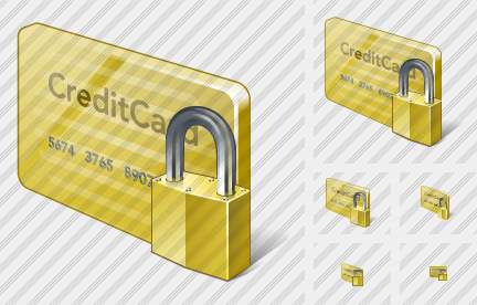 Credit Card Locked Icon