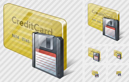 Credit Card Save Icon