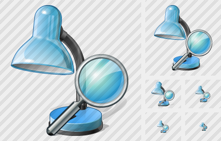 Desk Lamp Search Icon