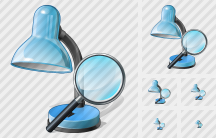 Desk Lamp Search 2 Icon