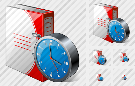 Doc Folder Clock Icon