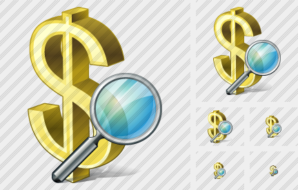 Dollar Search Icon
