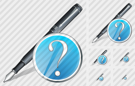 Feather Pen Question Icon