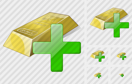 Gold Add Icon