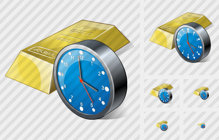 Gold Clock Icon