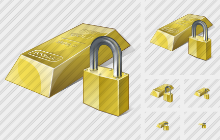 Gold Locked Icon