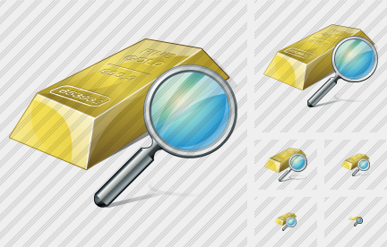 Gold Search Icon