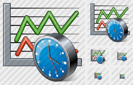 Graph Clock Icon