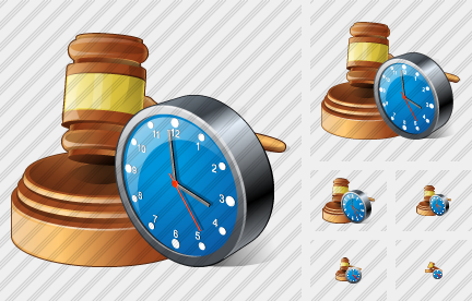 Hammer Clock Icon