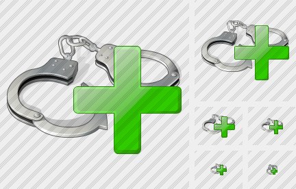 Handcuffs Add Icon