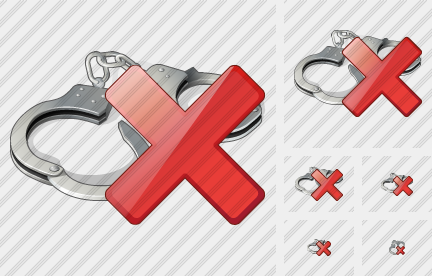 Handcuffs Delete Icon
