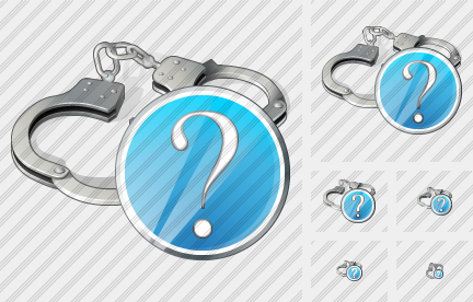 Icône Handcuffs Question